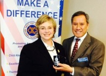 Irvine Community Services Commissioner Melissa Fox at Exchange Club of Irvine